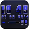 Digi Clock Widget Blue Saphir APK Icon
