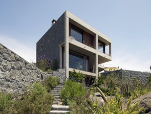 fachada moderna casa de playa