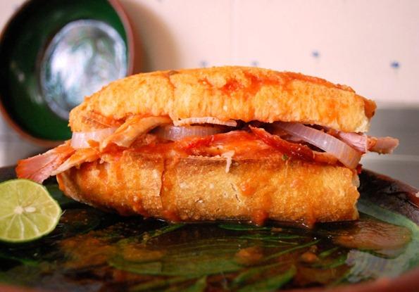 Pork Carnitas Drowned Sandwich /Torta Ahogada