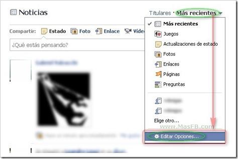 Cambiar opciones de las publicaciones en Facebook