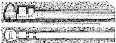 схема каменного широкополосного инфразвукового приемника древней болгарии, рисунок из доклада Богдана Филова