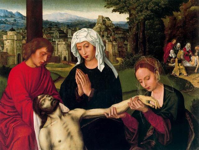 M Bellas Artes Bilbao 8 - Ambrosius Bensont - Piedad al pie de la Cruz - Renacimiento. S XVI.jpg