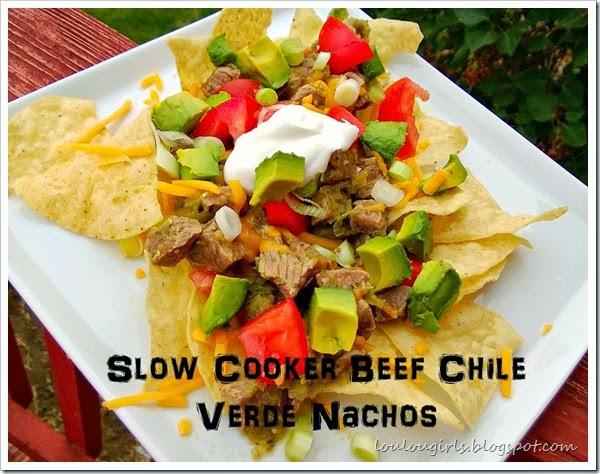 Beef Chile Verde Nachos