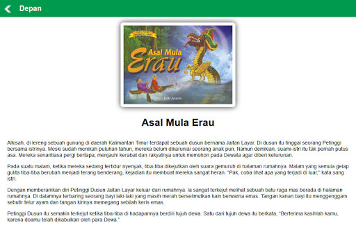 【免費書籍App】Cerita Rakyat Kalimantan Timur-APP點子