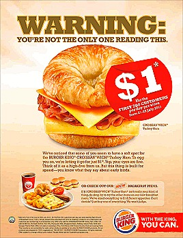 BK $1 CROISSAN'WICH OFFER
