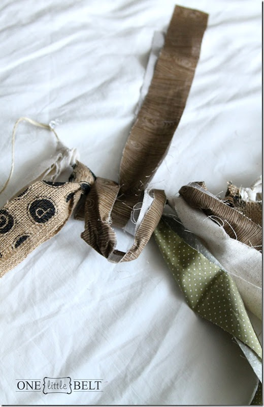 Fabric scrap bunting tutorial- easy project to make to match any room or nursery