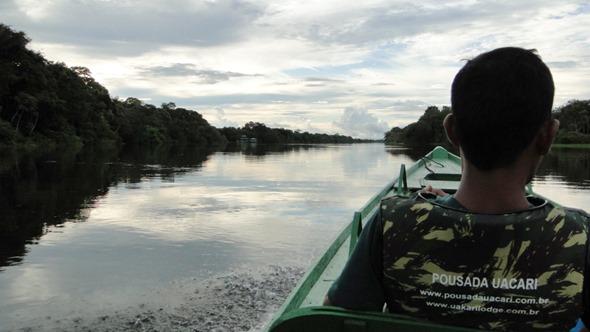 A caminho do Lago Mamirauá