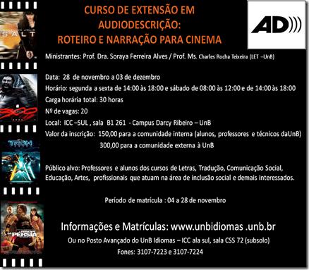 Curso de Audiodescrição na Universidade de Brasília