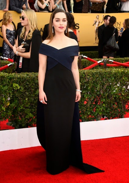 Emilia Clarke attends the 21st Annual Screen Actors Guild Awards