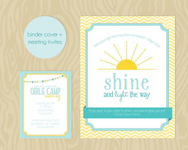 binder cover invites