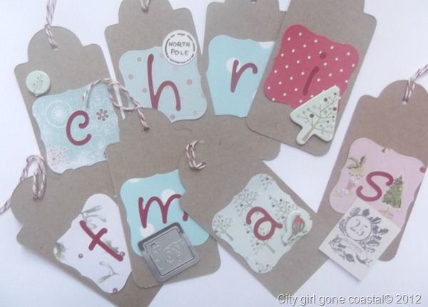 embellishments added to tags
