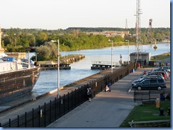 7997 St. Catharines - Welland Canals Centre at Lock 3 - Viewing Platform - Tug SPARTAN with barge SPARTAN II (a 407′ long tank barge) upbound
