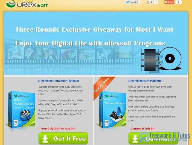 Offre promotionnelle : uRex Video Converter Platinum gratuit ! (7ème édition)