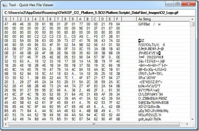 Dinis Cruz Blog: Util - Quick Hex File Viewer exe