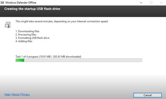 4 bước để có 1 USB boot hoàn chỉnh Windows Defender