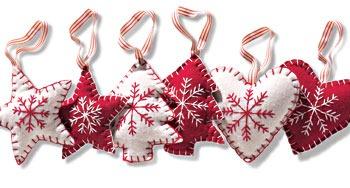 orazones y estrellas navidad en fieltro