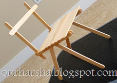 Popsicle sticks Chair (1)