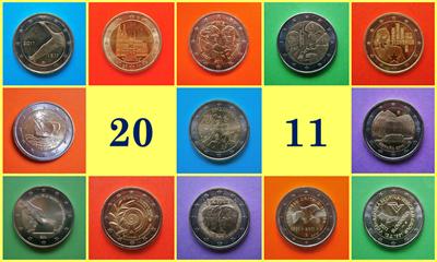 2011 monedas conmemorativas de 2 Euros