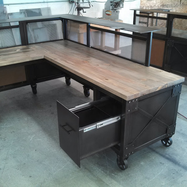 Real Industrial Edge Furniture Llc: Reception Desks