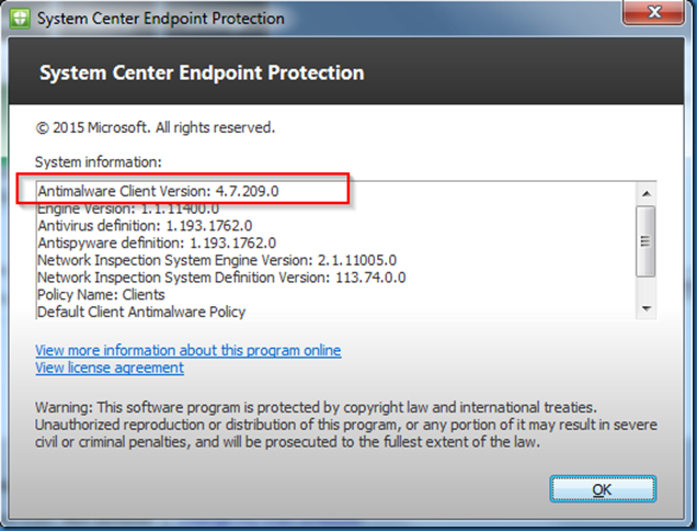 MINDCORE BLOG: System Center Endpoint Protection 4 7 209 0
