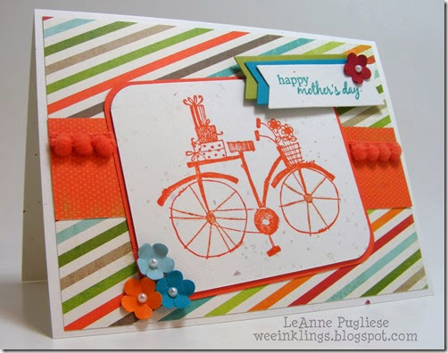 LeAnne Pugliese WeeInklings Paper Players 194 Bicycle Mothers Day Stampin