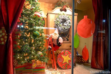Shop windows in downtown Grants Pass