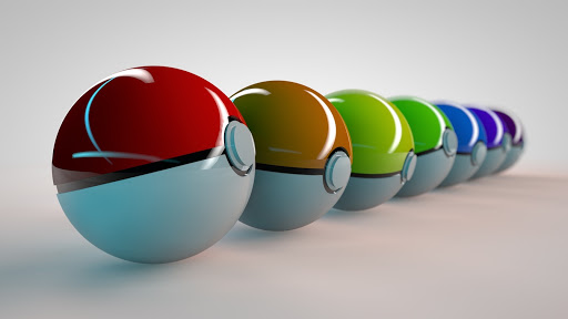Colorful Pokeballs
