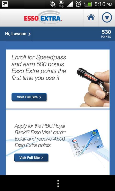 Esso Extra App - screenshot