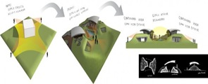 Planos 3d proyecto Dos casas en Luque por BAUEN