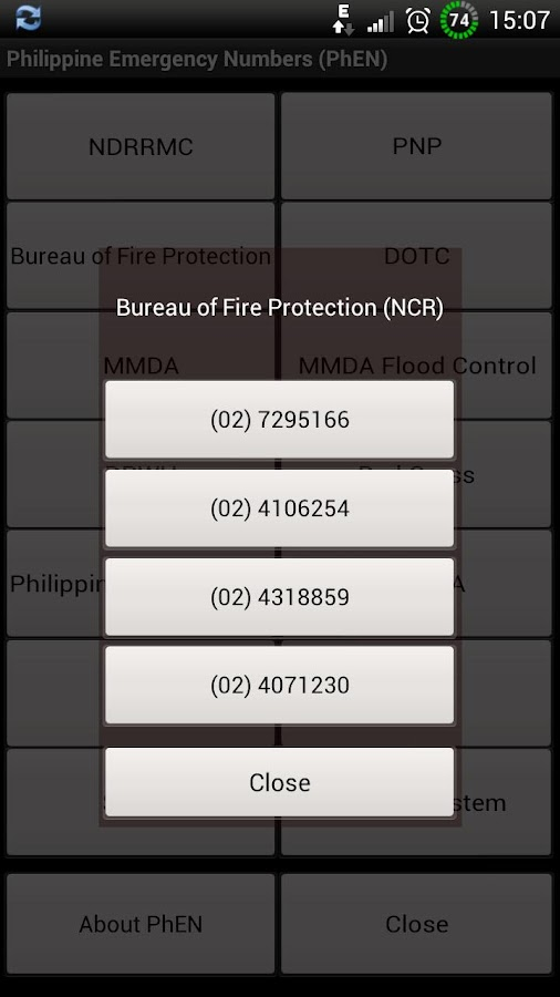 Philippine Emergency Numbers - screenshot