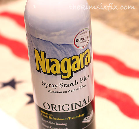 Spray starch for burlap