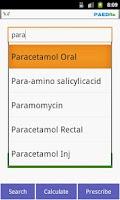 Screenshot of Kids Drug Dosage Calc - PaedRx