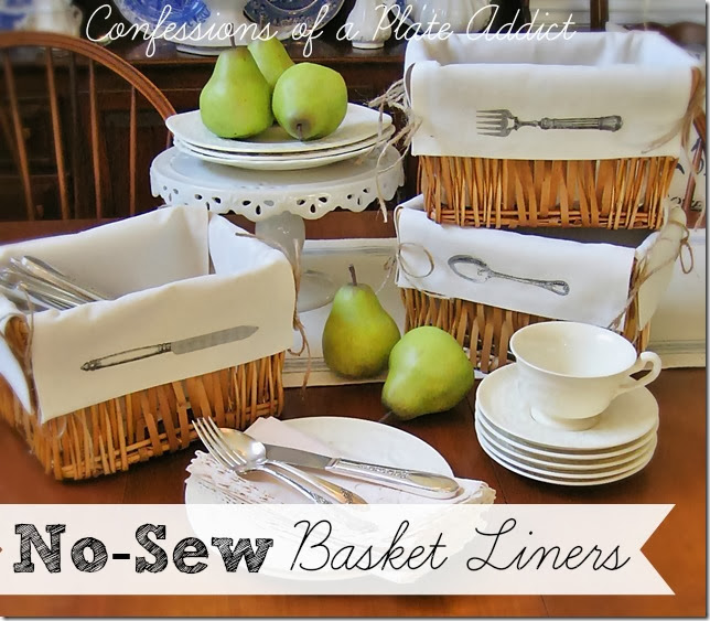CONFESSIONS OF A PLATE ADDICT No-Sew Basket Liners