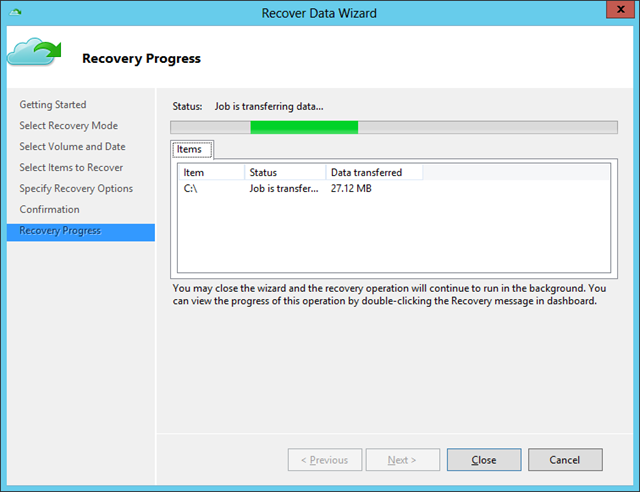 Recover Data Wiz - Recovery Process