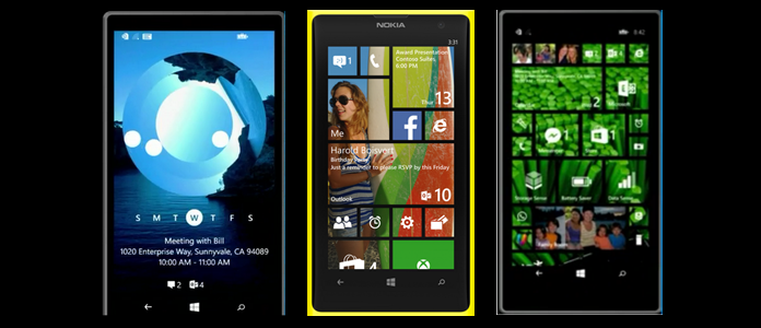 Windows Phone 8.1 Lock Screen and Start Screen