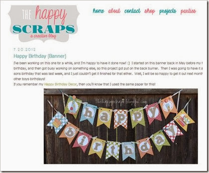 The Happy Scraps Blog Happy Birthday Banner
