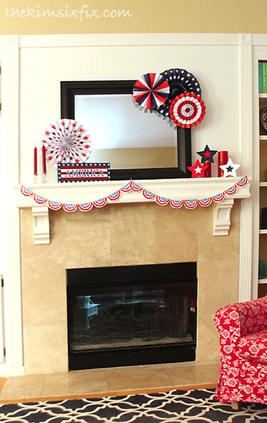 Independence day mantel