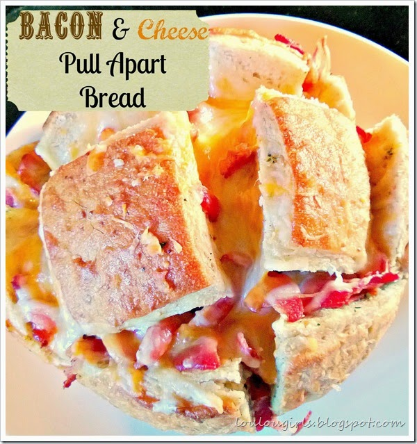 bacon and cheese pull apart bread