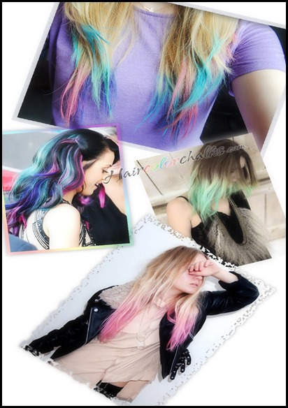 pretty hair chalks