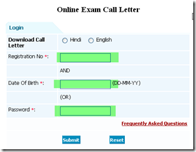 RBI Call letter for Assistant download
