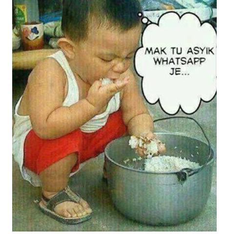Bila ibu sibuk WhatsApp,anak2???