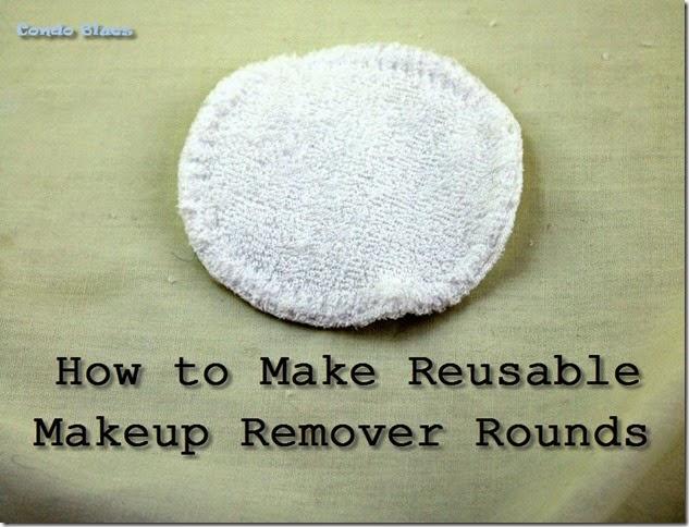 make reusable makeup remover rounds