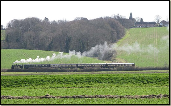 First train of the season on the Kent and East Sussex Railway