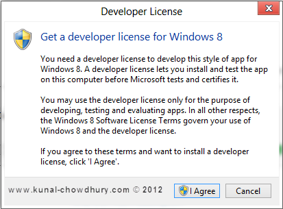 Windows 8 Developer License