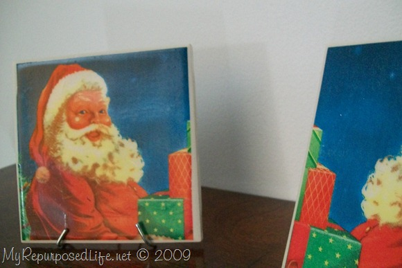 Santa Claus Christmas Napkins, tiles, coasters