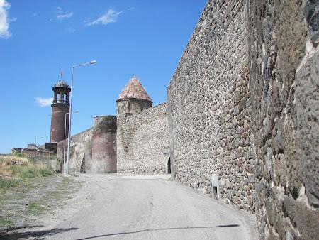 Obiective turistice Turcia: cetatea si turnul cu ceas Erzurum