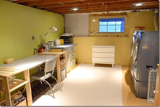 Remodelaholic Basement Craft Laundry Room Updates For Only 89