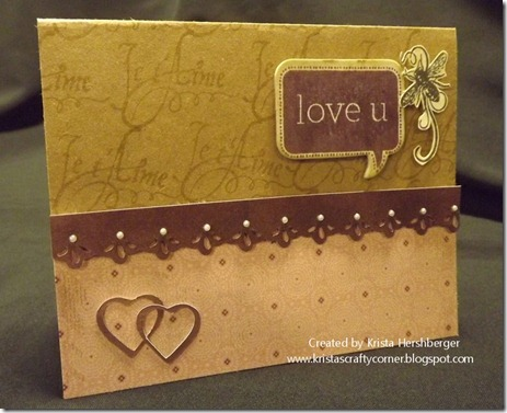 La Belle Vie love you bubble card