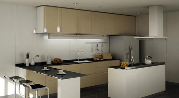 20 modelos de cocinas con bar multifuncionales idecorar for Bar para cocina