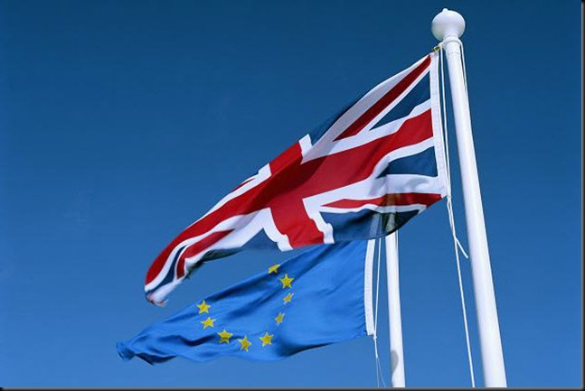 UK an Eurp flag